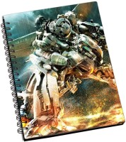Shoprock Transformers Robot A5 Notebook Ring Bound (Brown)