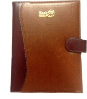 Excel Executive With Luppi Folder A5 Notebook Hard Bound (Brown)