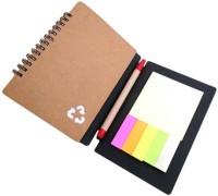 ELLIS Eco Friendly Assorted Notebook Spiral Bound (Brown)