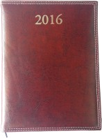 Excel 2016 Leather Executive 2 A5 Diary Hard Bound (Brown)