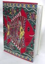 Indha Craft Fish Print A6 Diary Stitched Binding - Multicolor