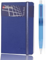 Bilt Matrix Note Book Combo With Parker Ball Pen A6 Notebook Hard Bound (Blue)