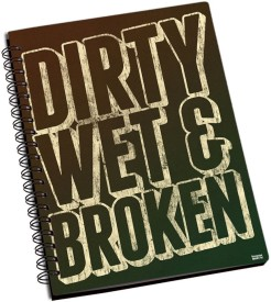 Shoprock Dirty Wet And Broken A5 Notebook Ring Bound