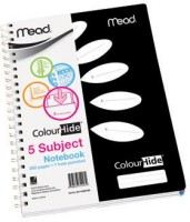 MEAD ColourHide 5 Subject A4 Diary Spiral Bound (Black)