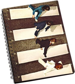 RangeeleInkers The Beatles abbey road A5 Notebook Spiral Bound