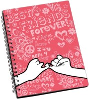 ShopMantra Best Friends Forever A5 Notebook Spiral Bound (Multicolor)