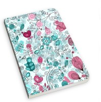 The Fappy Store Doodle Flowers And Butterflies A5 Notebook Soft Bound (Multicolor)