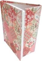 TASHI Pink Diamond Shap Floral Collage By TASHI B6 Diary Adhesive Bound (Pink)