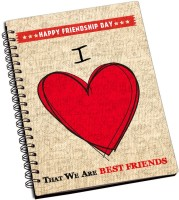 ShopMantra I Love That We Are Best Friends Design A5 Notebook Spiral Bound (Multicolor)