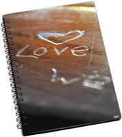 Shoprock Love Engraved A5 Notebook Ring Bound (Brown)