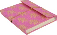 Lal Haveli Regular Diary (Handmade Paper Silk Cover Office Diary Notebook Journal Book With Pen, Pink) - DIAEM4R5JQYWHMH8