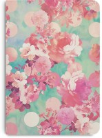 DailyObjects Romantic Pink Retro Floral Pattern Teal Polka Dots A5 Notebook Paper Back (Multicolor)