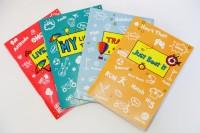 Blitzen 4 Doodle Memo Books A6 Memo Book Soft Bound (Blue Green, Sky Blue, Pink, Orange, Pack Of 4)