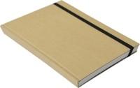 Rubberband Globe Series Kraft A5 Notebook Hard Bound (Kraft Cover, White Checks)