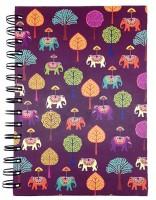 The Elephant Company Plum Elephant Carnival A5 Diary Spiral Bound (Plum)