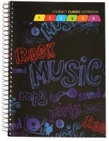 Navneet 5 Subject Book Size Notebook Case Bound Multicolor Best