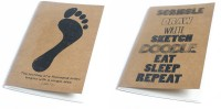 Ink And Graphite Kraft Series Combo - First Step And Eat Sleep Repeat A5 Notebook Soft Bound (Brown)