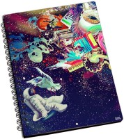 Shoprock Trippy Space A5 Notebook Ring Bound (Blue)