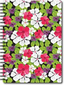 Nourish A5 Size Plain Pages Colourful Graphic Diary A5 Notebook Spiral Bound