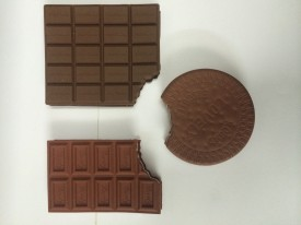 Its Our Studio Tempting chocolate (Set of 3) Book-size Notebook Hard Bound