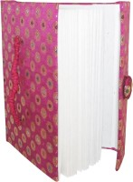 Indha Craft A5 Diary (Handmade Recycle Paper, Pink)