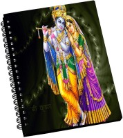 AMY Lord Krishna Standing With Lord Radha A5 Notebook Spiral Bound (Black)