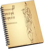 AMY Lord Radha Krishn Sketch Art A5 Notebook Spiral Bound (Multicolor)
