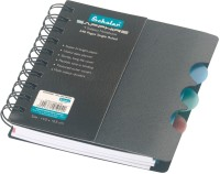 Scholar Sapphire 4 Subject A6 Notebook Spiral Bound (Black)