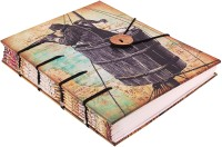 Craft Club Traveller With Telescope Print In Special Binding Notebook Regular Journal Hand Sewn (Multicolour)