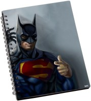 Shoprock Superman Batman A5 Notebook Ring Bound (Green)