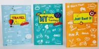 Blitzen 3 Doodle Memo Books A6 Memo Book Soft Bound (Blue Green, Sky Blue, Orange, Pack Of 3)