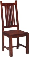 Smart Choice Furniture Six Patti Backside Design Solid Wood Dining Chair (Set Of 1, Finish Color - Brown)