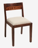 Jivan Solid Wood Dining Chair (Set Of 1, Finish Color - Walnut Brown)