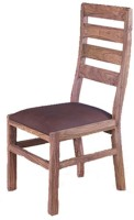 Smart Choice Furniture Wooden New Cubix Design Solid Wood Dining Chair (Set Of 1, Finish Color - Caramel)