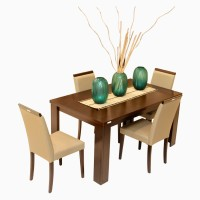 Godrej Interio Engineered Wood Dining Set (Finish Color - Brownish Black)