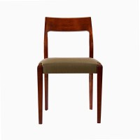 Godrej Interio Saturn Solid Wood Dining Chair (Set Of 2, Finish Color - Dark Walnut)