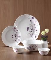Laopala Dazzle Purple Pack Of 13 Dinner Set (Ceramic)