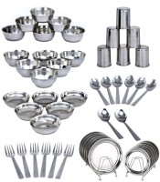 King Villa Family Pack Of 50 Dinner Set (Stainless Steel)
