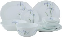 Corelle Asia Collection Shadow Iris Dinner Set 21-SI (Glass, White, Blue)