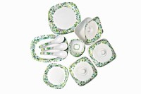 Diamond Queen Pack Of 34 Dinner Set (Melamine)