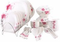 Hi Luxe Blossom Pink Pack Of 44 Dinner Set (Melamine)