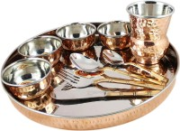 King Traders TULSI -Designer Traditional Indian Copper Dinner Set/Thali Set Dinner Set (Copper)