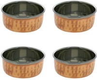 King Traders TULSI - Indian Serveware Copper Katoris Set Of 4 Serving Bowls Dinner Set (Copper)