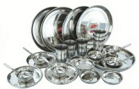 Sheetal Gold 36 - Stainless Steel Dinner Set Pack Of 36 Dinner Set (Stainless Steel)