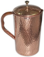 Prisha India Craft Pure Copper Jug 2250 Ml Handmade Utensils Water Pitcher (2.2 L)