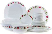 Corelle Livingware Series Spring Pink Pack Of 30 Dinner Set (Glass)