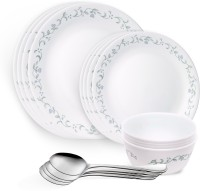 Corelle Country Cottage Pack Of 16 Dinner Set (Glass, Stainless Steel)