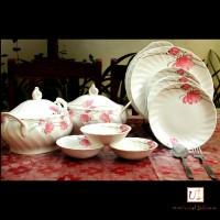 Unravel India Pack Of 21 Dinner Set (Porcelain) - DNSE6HUNWJYEHGRT