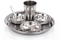 JJ Gold 7 Pcs Thali Set Deluxe Pack Of 7 Dinner Set (Stainless Steel)
