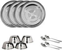 Sssilverware SSS-DI-12pcs-01-0 Pack Of 12 Dinner Set (Stainless Steel)